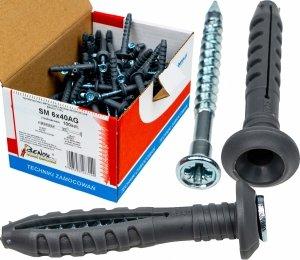 Kołki rozporowe 6x40 AG szybkiego montażu 100szt
