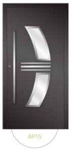 Drzwi wejściowe zewnętrzne Aluprof MB86 wzór AP15