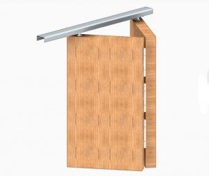 Zestaw okuć + szyna drzwi łamanych APOLLO 2/603mm