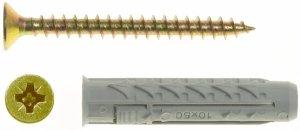BX8+US5X45/100 Kołek rozporowy BX+wkręt stożkowy