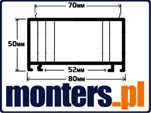 Poszerzenie do okien PCV 80x50mm OVLO ENCORE 1mb.