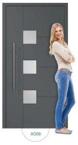 Drzwi wejściowe zewnętrzne Aluprof MB86 wzór AD09