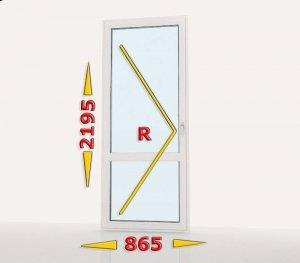 Drzwi balkonowe PCV 865x2195 rozwierne lewe białe