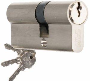 Wkładka CAM EKO 35/50 nikiel zamka drzwi furtki