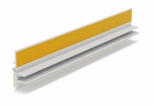 Listwa przyokienna Apu z uszczelką biała 1,5m
