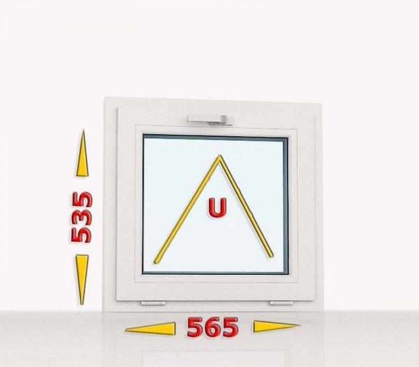 Okno PCV 565x535 uchylne białe