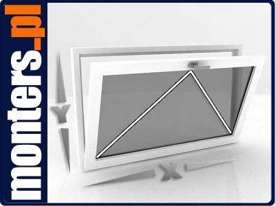 Okno PCV U 865x835 uchylne białe EKOSUN