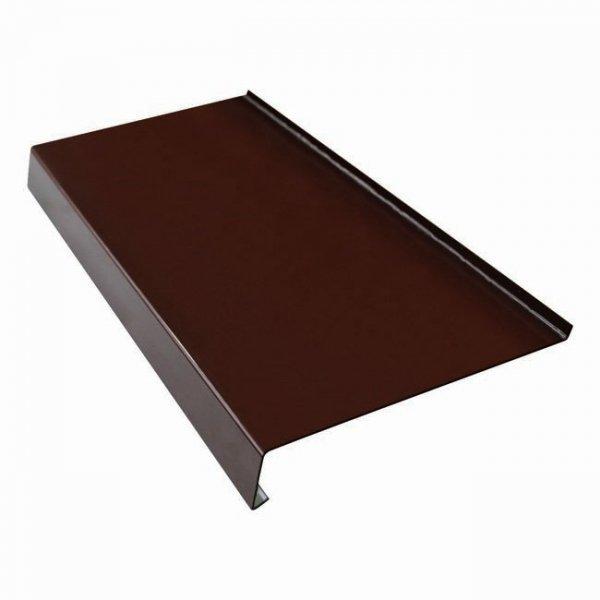 Parapet zewnętrzny stalowy blacha brąz 8017 325mm 1mb