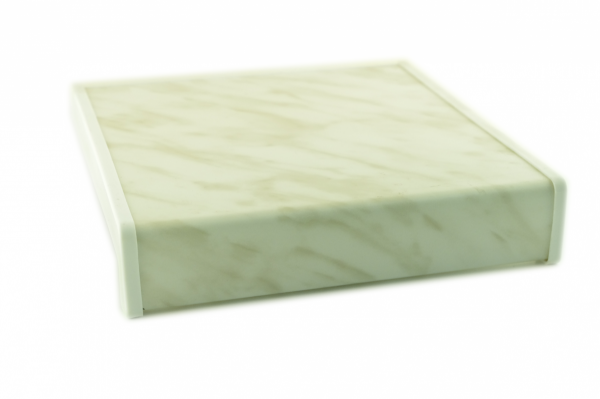 Parapet wewnętrzny plastikowy PCV marmurek 250mm 1mb
