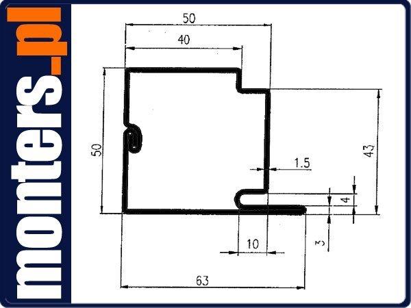 ZZU1 Profil stalowy L - ościerznica drzwiowa 1mb