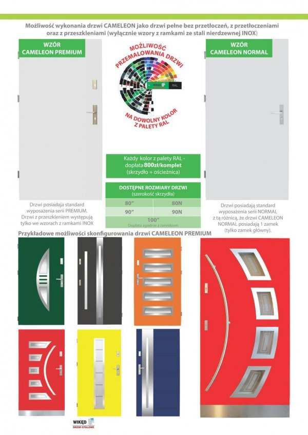 Drzwi wejściowe zewnętrzne Wikęd Premium wzór 12a