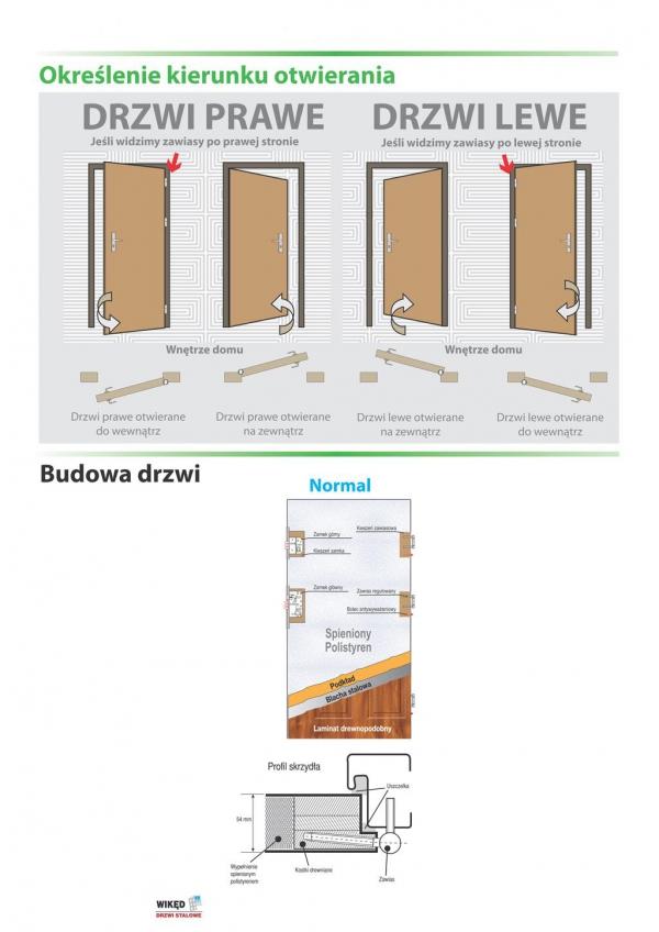 Drzwi wejściowe zewnętrzne Wikęd Premium wzór 26d