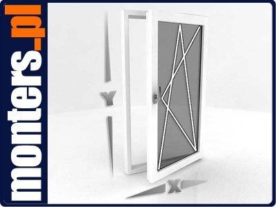 Okno PCV 865x1135 uchylno-rozwierne prawe białe