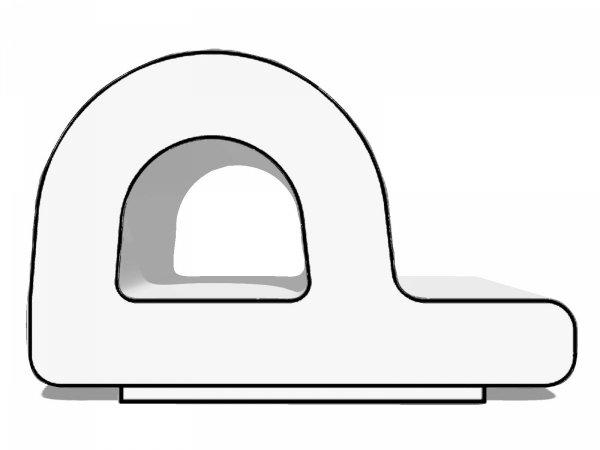 Uszczelka P 9x5,5 samoprzylepna biała (SD-39) 1m.