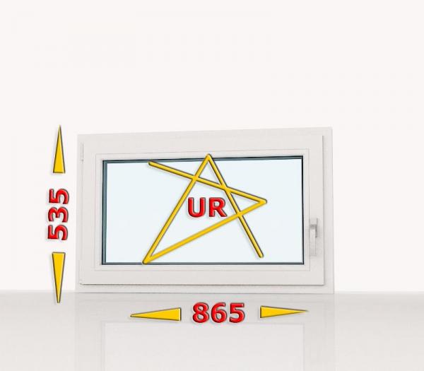 Okno PCV 865x535 uchylno-rozwierne lewe białe