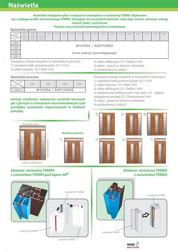 Drzwi wejściowe zewnętrzne Wikęd Premium wzór 35
