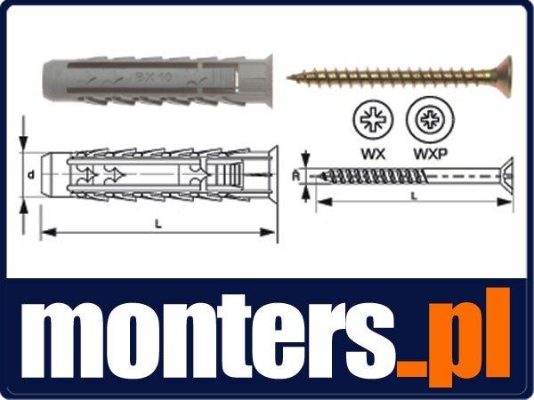 BX5+US3X30/200 Kołek rozporowy BX + wkręt stożkowy