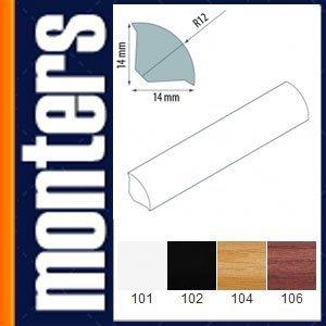 Ćwierćwałek listwa do okien 14x14mm szary 103 2,5m