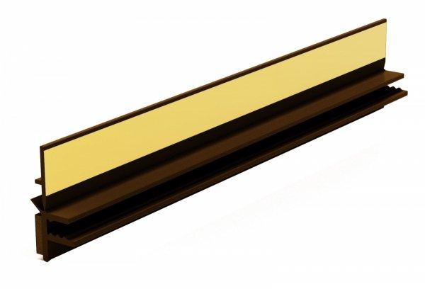 Listwa przyokienna Apu z uszczelką orzech 2,5m