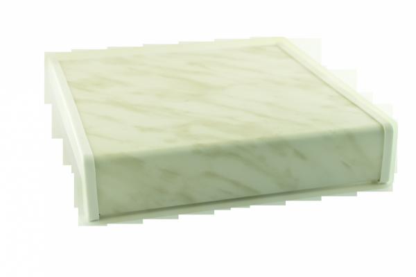 Parapet wewnętrzny plastikowy PCV marmurek 350mm 1mb