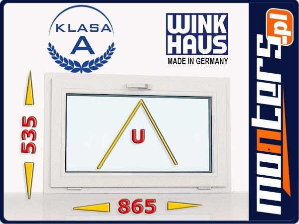Okno PCV 865x535 uchylne białe