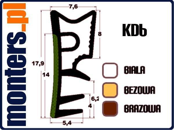 Uszczelka do okien drewnianych KD6 biała 30m