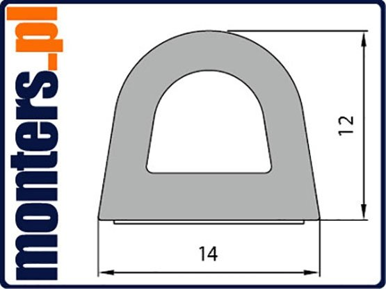 Uszczelka D 14x12 samoprzylepna biała (SD-55) 1m.