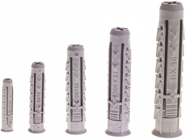BX 12x60 kołek czterodzielny pusty 100szt.