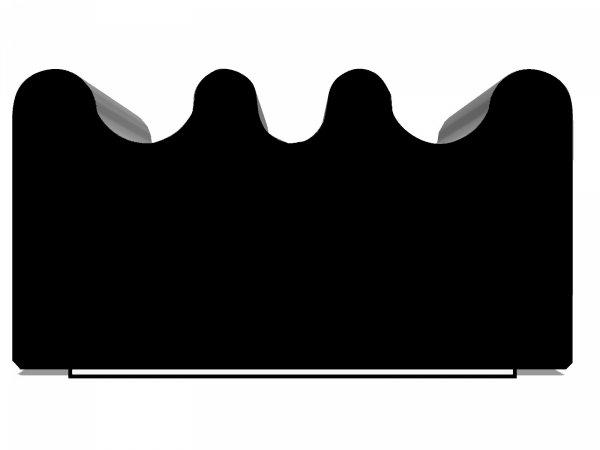 Uszczelka samoprzylepna czarna 15x8 (SD-84) 1m