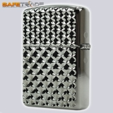[ZIP-65] Unikat Zapalniczka Zippo™ Armor Ebony Engine Turn Star