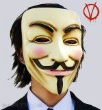 [MAC-07] V for Vendetta™ Oryginalna Maska Guy Fawkes Anonymus
