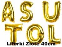Balony Literki Złote 40cm