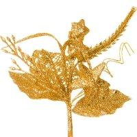 Dekoracja Gwiazdki Brokatowe Pik Złoto [Komplet 5 sztuk] 602952