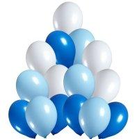 Balony Pastelowe Mix Niebieskie [Komplet - 5 opakowań]