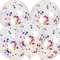 Balony Krystaliczne Z Konfetti MIX [Zestaw - 100 sztuk]