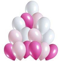 Balony Pastelowe Mix Róż [Komplet - 5 opakowań]