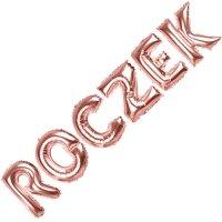Balon Foliowy Napis ROCZEK Różowe Złoto [Komplet - 2 opakowania]