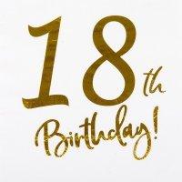 Serwetki 18 Urodziny Złoto 10szt [Komplet - 4 opakowania]