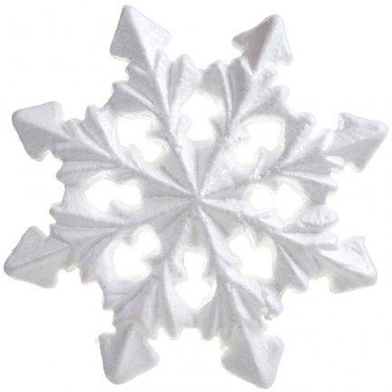 Śnieżynka Styropianowa 21cm [Komplet - 20 sztuk]