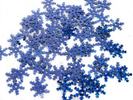 Cekiny Śnieżynki Małe Chaber - [ Komplet - 20 sztuk]