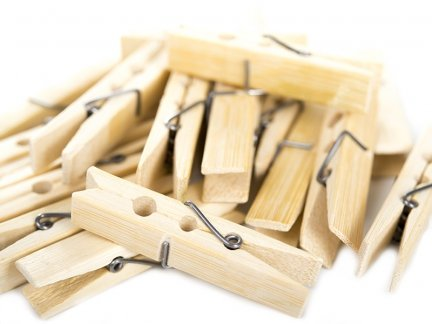 Bambusowe Klamerki 60mm [Komplet 30 paczek]