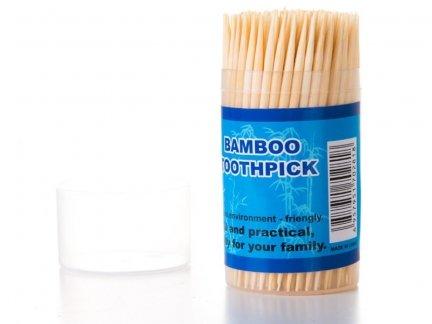 Wykałaczki Bambusowe 160szt [ Zestaw - 48 Opakowań]