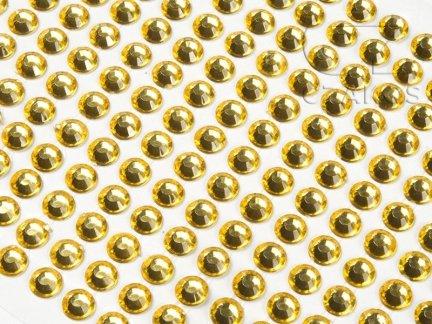 Kryształki samoprzylepne 6mm Żółty  [10 Blistrów]