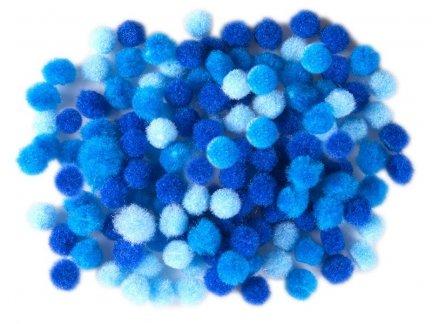 Pompony 1cm Niebieskie [Zestaw- 30 Paczek]