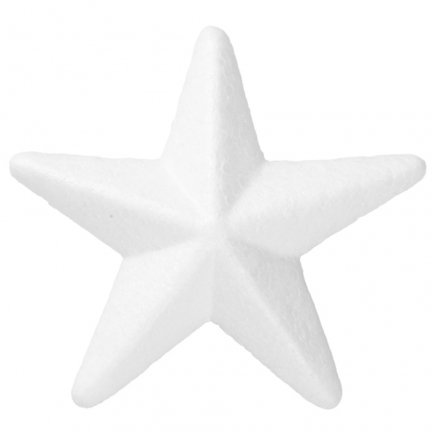 Gwiazda Styropianowa 3D Mała 6cm [Komplet - 100 sztuk]