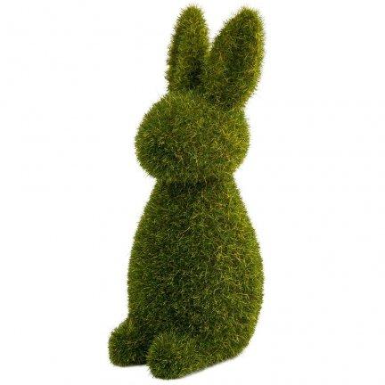 Zając Flokowany Stojący Zielony 15cm [ Komplet 2szt ]