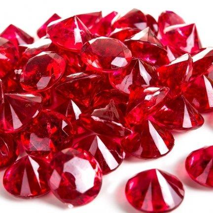 Diamenciki Kryształki Czerwone 19mm  [ Komplet - 10 Paczek]