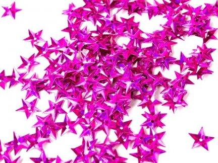 Cekiny Gwiazdki Małe 10mm Róż- [ Komplet - 20 sztuk]