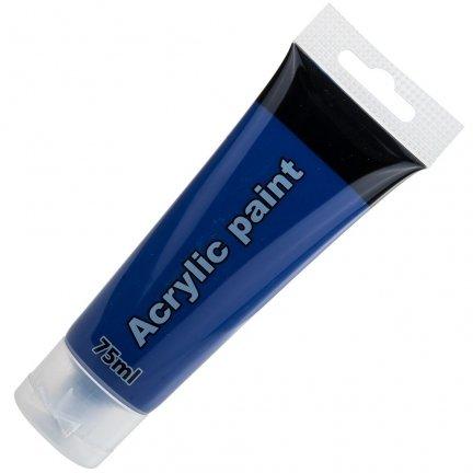 Farba akrylowa 75ml Granatowa [komplet - 5 sztuk]