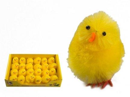 Kurczak Wielkanocny Średni 7cm Stroik [ Komplet - 24 sztuk]